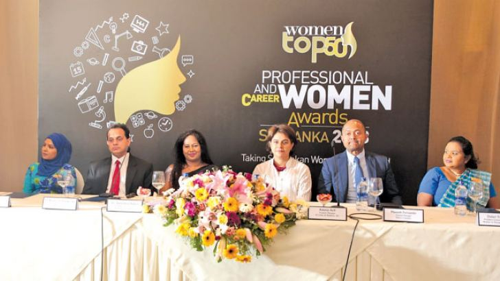 IFC Country Manager, Sri Lanka and Maldives, Amena Arif, Dr. Sulochana Segera, Founder and Chairperson of WIM and other officials at the event