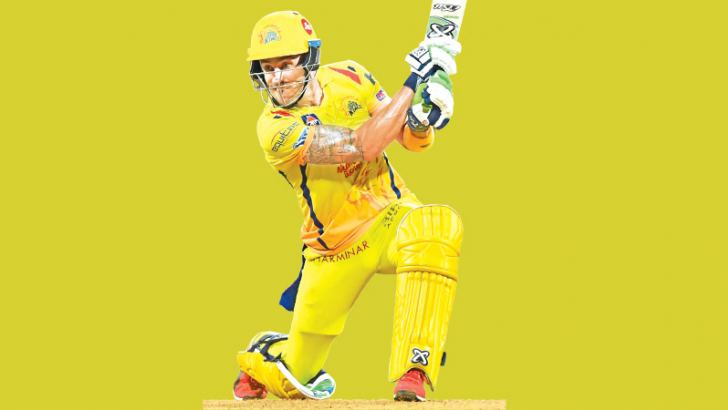 Chennai Super Kings batsman Faf du Plessis plays a shot during the Indian Premier League (IPL) T20 first qualifier cricket match against Sunrisers Hyderabad at the Wankhede  Stadium in Mumbai on Tuesday. - AFP