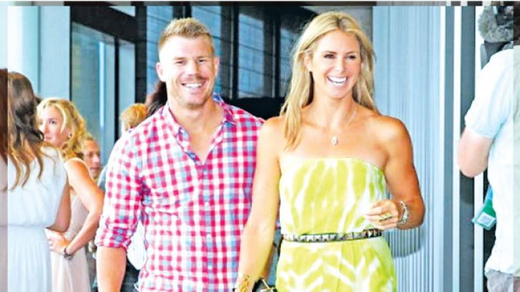 David Warner and wife Candice
