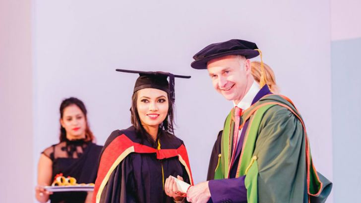 Receiving first class honours at the  AOD Convocation 2017