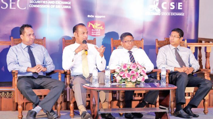 Sanjeewa,Prabash,Suneth and Niroshan at the panel discussion