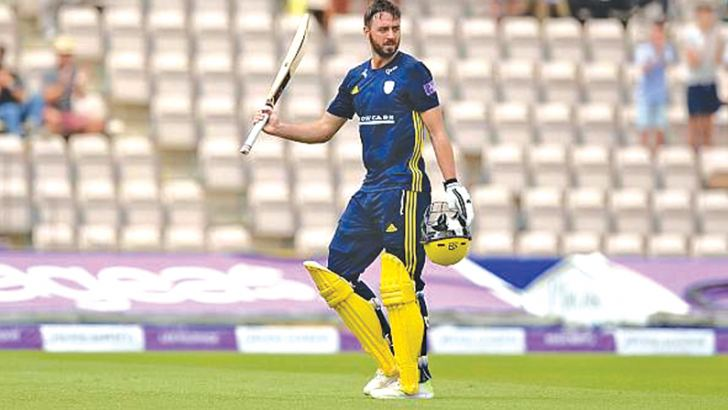 James Vince smashed 20 fours and three sixes in his 126-ball 171 for Hampshire