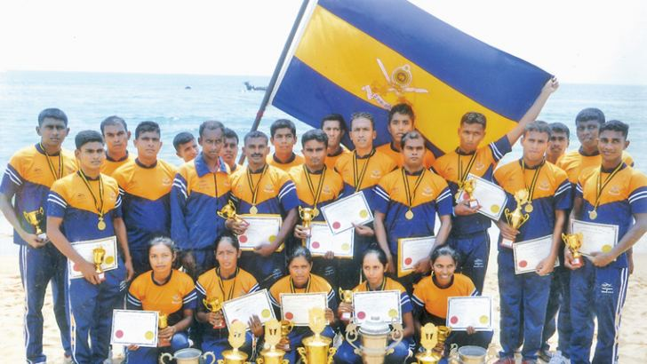Overall champions SL Army team with their trophies