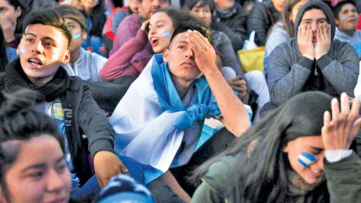 Argentina fans weep as dream of glory fades after Croatia humiliation