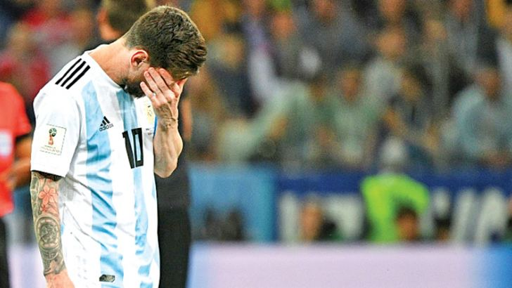 Argentina's Lionel Messi looks set for an early World Cup exit.