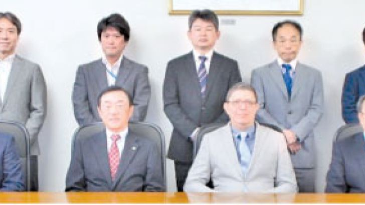 Representatives from Interblocks and Hitachi Omron Terminal Solutions meet to establish a capital and business alliance