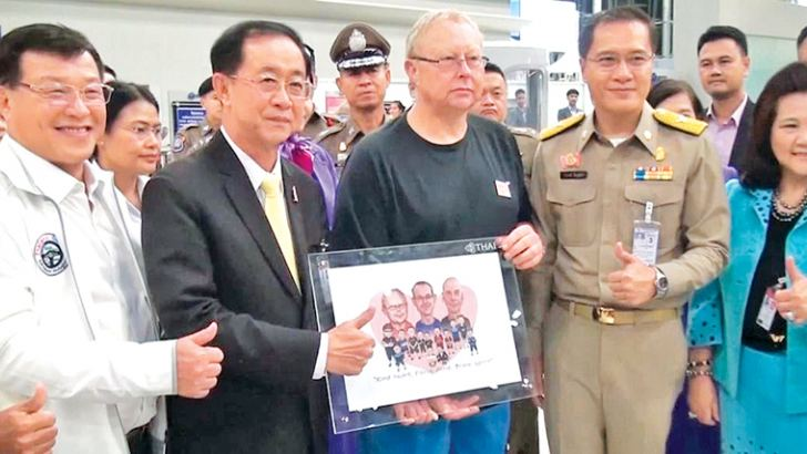 British diver Robert Charles Harper honoured by Thai authorities for helped find the missing football team and coach.