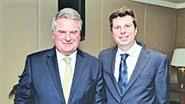 Charles Phillpot, Sales and Marketing Director of Sri Lanka Sotheby's International Realty with Petar Petrovic, Director of Sri Lanka Sotheby's International Realty