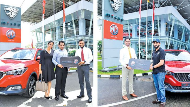 Some of the buyers of MG receiving their keys