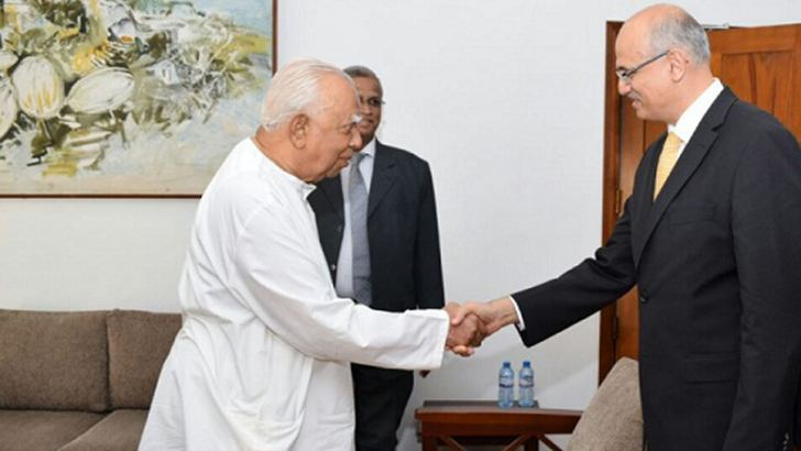 Indian Foreign Secretary Vijay Gokhale met a Tamil National Alliance  delegation led by its Leader and the Leader of the Opposition R.  Sampanthan yesterday.
