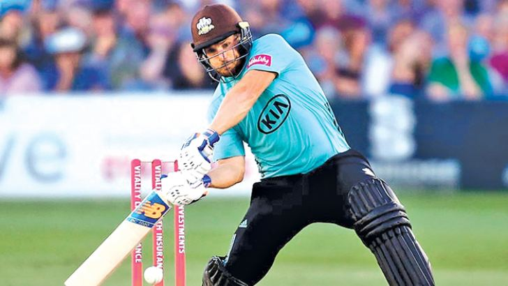 Australia's Aaron Finch made an unbeaten 131, the highest score by a Surrey batsman in a Twenty20 match.