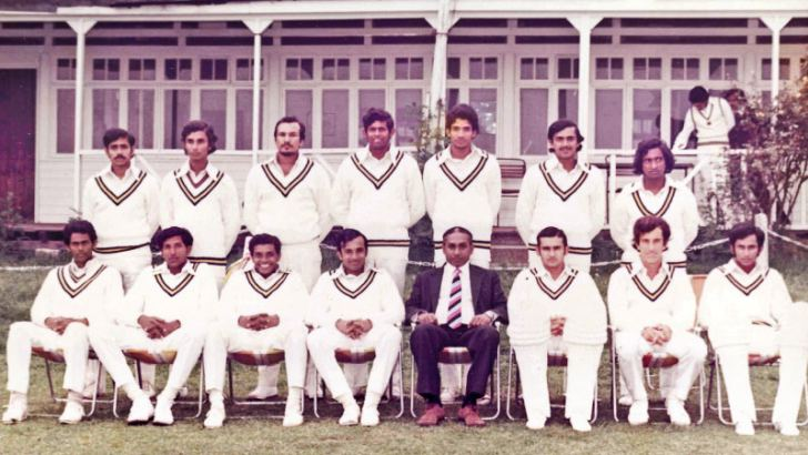 David Heyn (seated second from right) was a member of Sri Lanka's World Cup team in 1975.