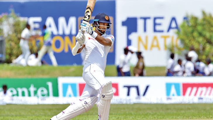 Dimuth Karunaratne's batting was the difference between victory and defeat in the first Test between Sri Lanka and South Africa at Galle. – AFP