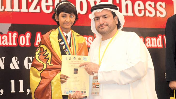 W. C. M. Mishela Pallie won gold medal in U-11 Girls rapid event