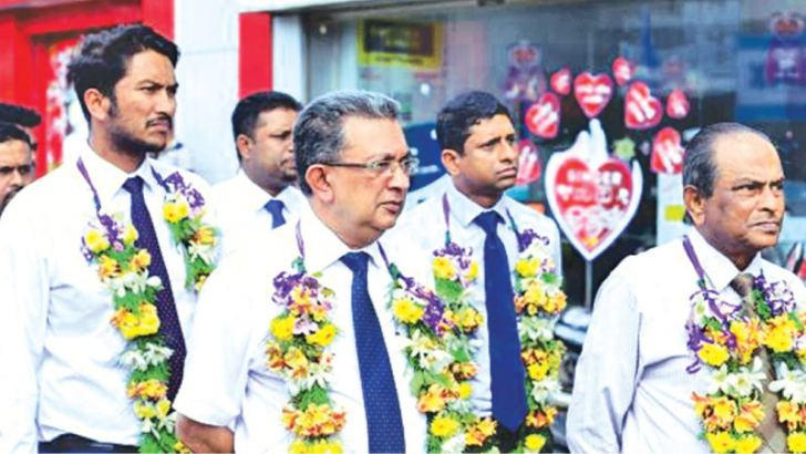 Managing Director Shanil Dayawansa, Director Operations Nalatha Dayawansa, Senior Director Lyle Pieris and Chief Executive Officer Chandrin Fernando at the relocation of the branch.