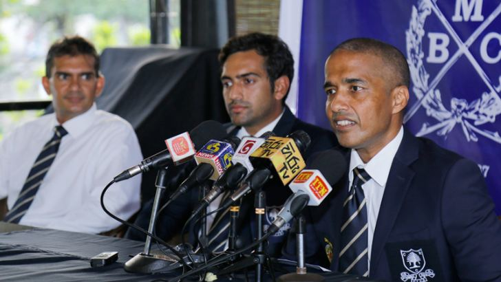 President of Colombo Rowing Club, Dinesh Deheragoda addressing the media during the media briefing at club premises.  Pic by Rukmal Gamage