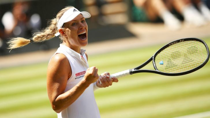 German tennis player Angelique Kerber climbed to No.4 in the world rankings after her 6-3 6-3 win over Serena Williams to claim her first title at Wimbledon last week