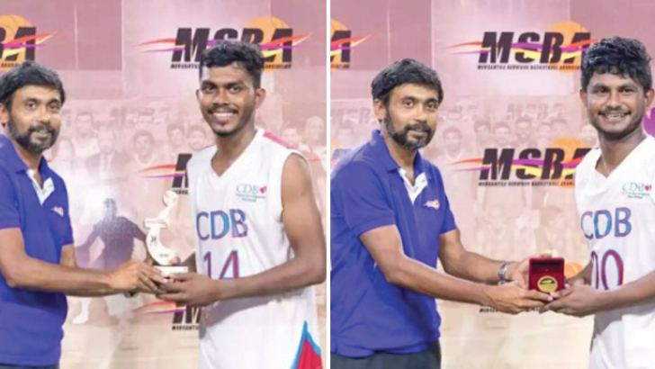 Dilan Danushka - Most Valuable Player and Dinuka Gamage - Player of the final