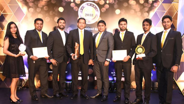 LAUGFS Group IT team at the BestWeb.lk 2018 awards ceremony