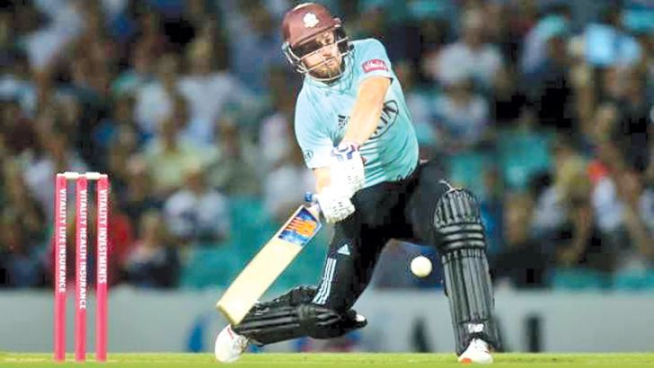 Aaron Finch ton led Surrey to a nine-wicket win against Middlesex in the T20 Blast.