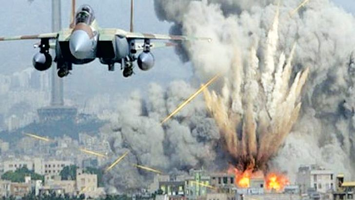 A US airstrike against Taliban positions in Afghanistan.