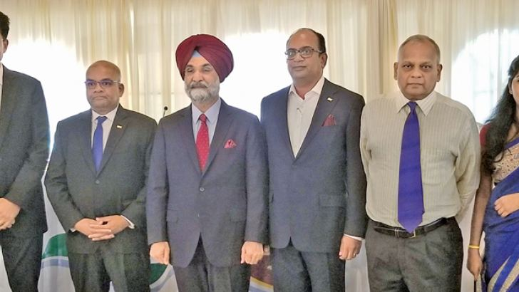 Indian High Commissioner Taranjit Singh Sandhu, President of the Indo-Lanka Chamber Vish Govindswamy and others, at the AGM.