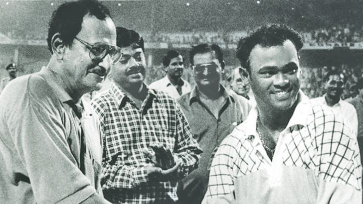 Ajit Wadekar and Vinod Kambli