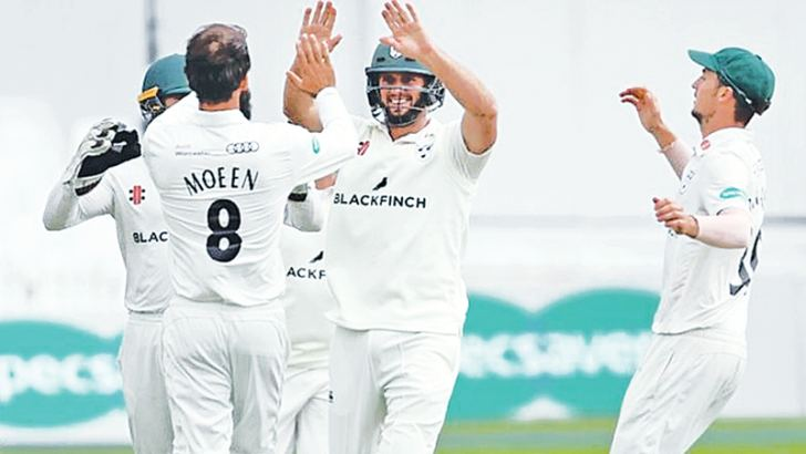 Worcestershire were captained in the Championship by England all-rounder Moeen Ali for the first time since 2011.