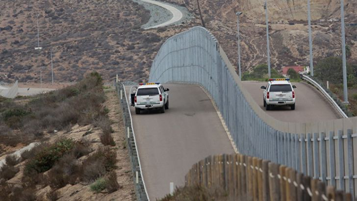 Trump's border wall with Mexico.