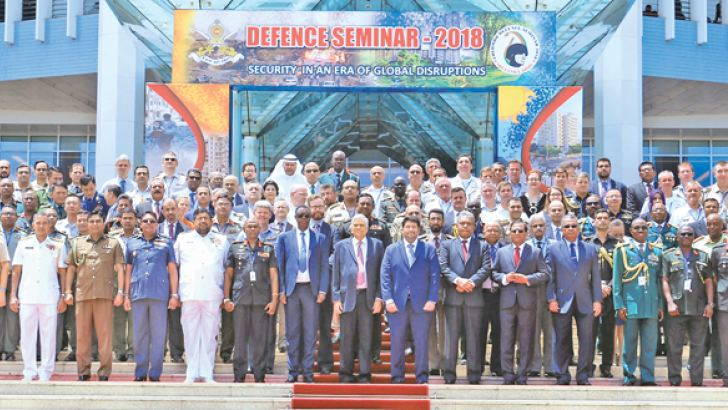 Participants in the Colombo Defence Seminar – 2018. Pictures by  Hiranthantha Gunathilaka.