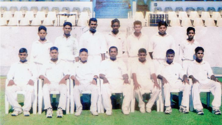 Old Moratu Vidyalian Sports Club Division Two Donovan Andree Trophy Champions 2003 Seated fourth from left is the captain of the team Athula Wickramatilleke and standing fourth from left Ajantha Mendis. Picture by Dkilwin Mendis, Moratuwa Spors Speical Correspondent