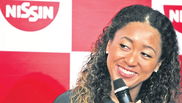 Naomi Osaka said she is eyeing a break into the world top five at a press conference in Yokohama on September 13. AFP