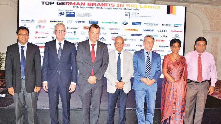 Minister Samarawickrama, German Ambassador Jörn Rohde and other officials at the launch. Picture by Sudath Malaweera