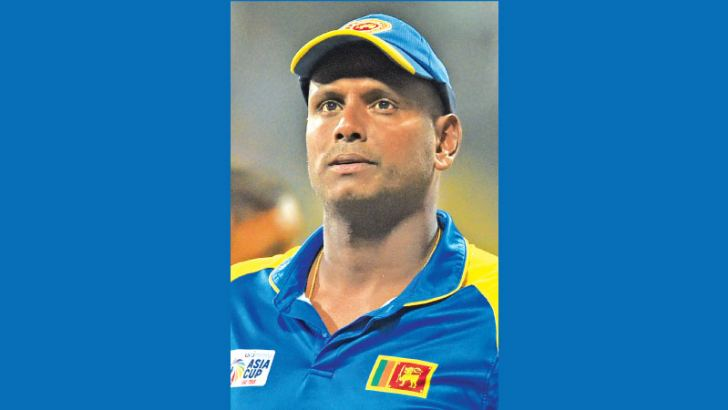 A despondent Sri Lanka skipper Angelo Mathews after his team's loss to Afghanistan that resulted in their elimination from the Asia Cup cricket tournament being played in the UAE. – AFP