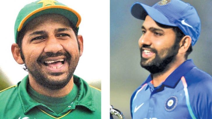 Sarfraz Ahmed - Pakistan captain & Rohit Sharma - Indian captain