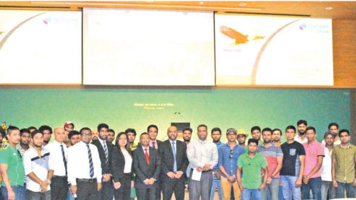 'Winning Life' entrepreneurial workshop participants among Sri Lankan Embassy of S. Korea and Nations Trust Bank officials.