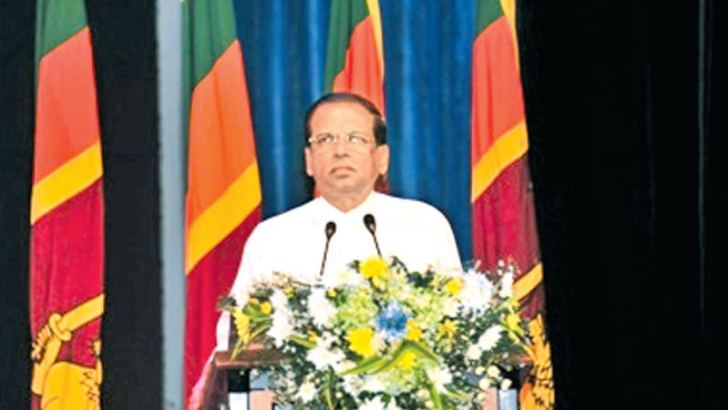 President Maithripala Sirisena addressing the event