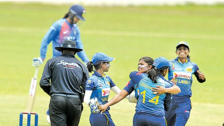 Lanka Women celebrating a wicket