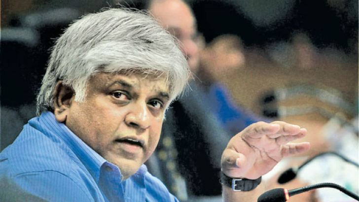 Former World Cup winning captain and present Minister Arjuna Ranatunga.