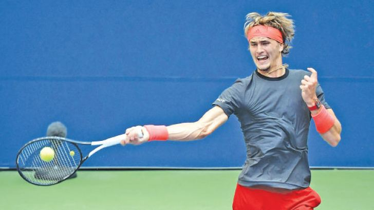 Alexander Zverev in action.