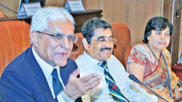 Governor, CBSL Indrajit Coomaraswamy. Picture by Saliya Rupasinghe