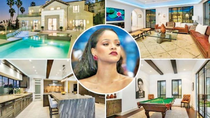 Rihanna's  Los Angeles house was burgled.