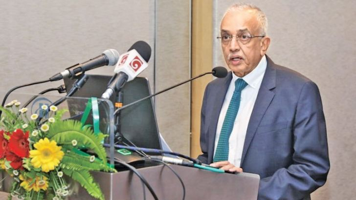 Minister Malik Samarawickrama speaks at the launch of the Global Alliance for Trade Facilitation Project in Colomboa. Picture by Saliya Rupasinghe