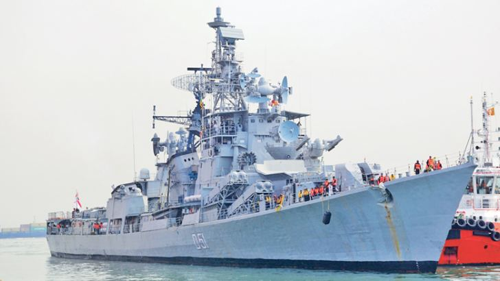 INS Rajput at the Colombo Port.