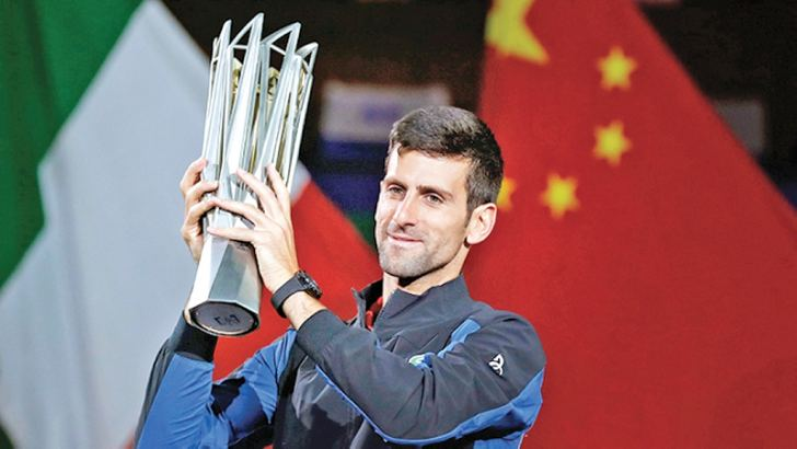 Novak Djokovic won his fourth Shanghai title.
