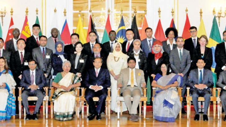 The participants in the Diplomacy Dialogue.