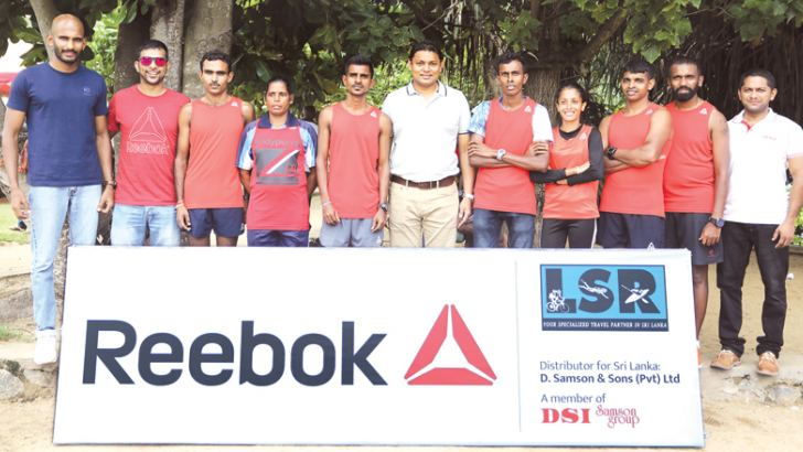 Runners sponsored by Reebok with Thusitha Rajapaksa, the Managing Director of D. Samson & Sons (Pvt) Ltd, the distributor of Reebok in SriLanka
