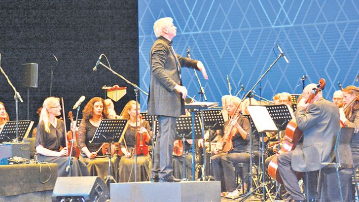 Orchestra in action