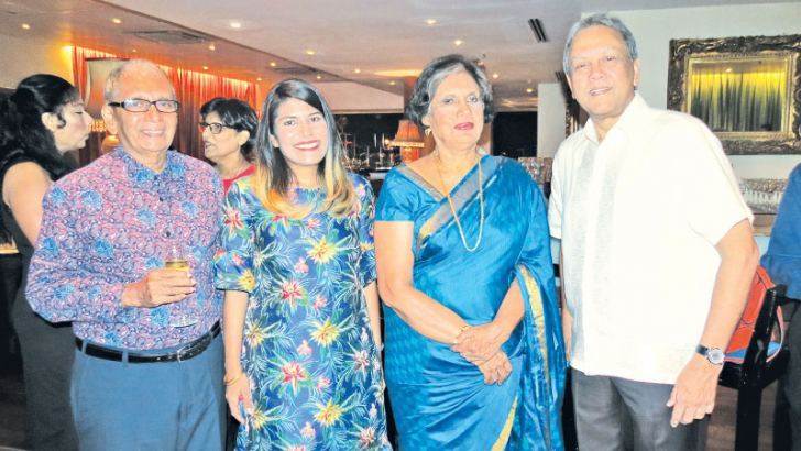 Deshamanya Lalith de Mel with Former President Chandrika Bandaranaike Kumaratunga at a function to thank all those who contributed to the compilation of the book