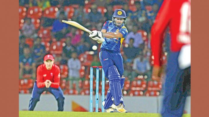 Niroshan Dickwella gave Sri Lanka a flying start posting 36 off 20 balls out of an opening stand of 57 in the third ODI against England at the Pallekele International Stadium on Wednesday. – AFP